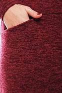Женское теплое ангоровое платье Алиса цвет марсала / размер  52, 54, 56, 58 , фото 5