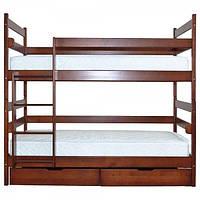 """Двухъярусная кровать из массива ольхи """"Глория"""""""