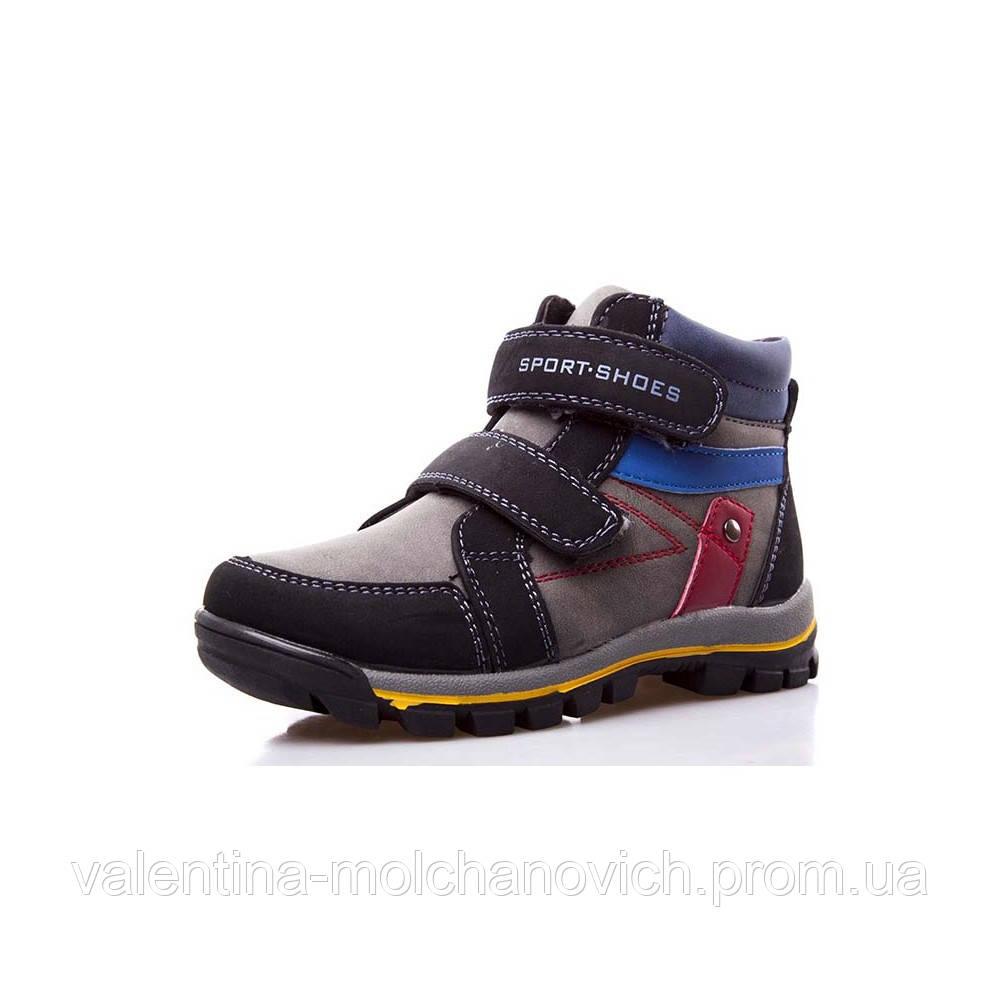 a87437002 Зимние ботинки-кроссовки для мальчиков на липучках из эко-кожи высокого  качества 29,30р.
