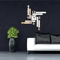 Акриловые DIY 3D прямоугольник зеркала настенные часы стикер дома комнатный офис декор