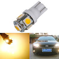 Теплый белый 3000k T10 W5W 5SMD 5050 LED автомобиль оформления боковой свет лампы