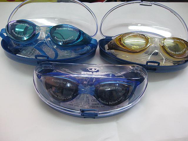 Очки для плавания антифог, зеркальные.