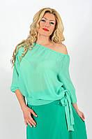 Женская блуза шифон   (46-60) 8116