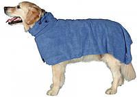 Накидка - полотенце для собак (микрофибра) 30/40/50/60 и 75 см красн./синий