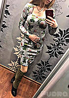 Платье женское Розы (серое) СП