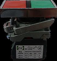 Выключатель кнопочный ВК011-НПр (кнопки зелёная + красная без фиксации) 1NО+1NC