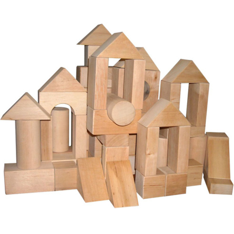 Конструктор Городок дерев'яний 53 елементи