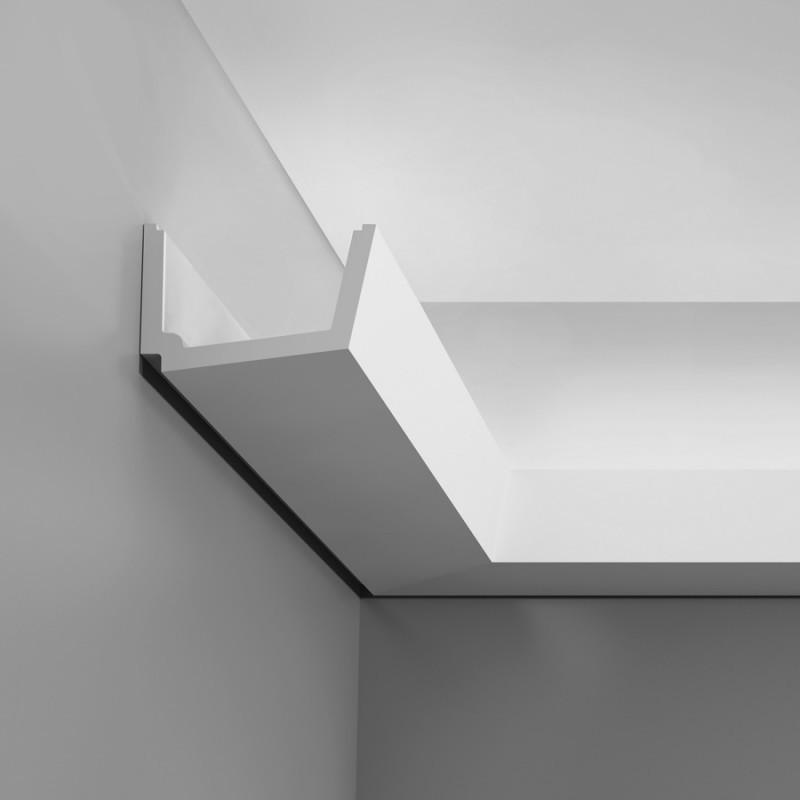 Карниз для скрытого освещения C357, 200 x 7.1 x 11 cm