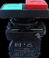 Выключатель кнопочный ВК011-НПрИЛ (кнопки зелёная + красная LED без фиксации) 1NО+1NC