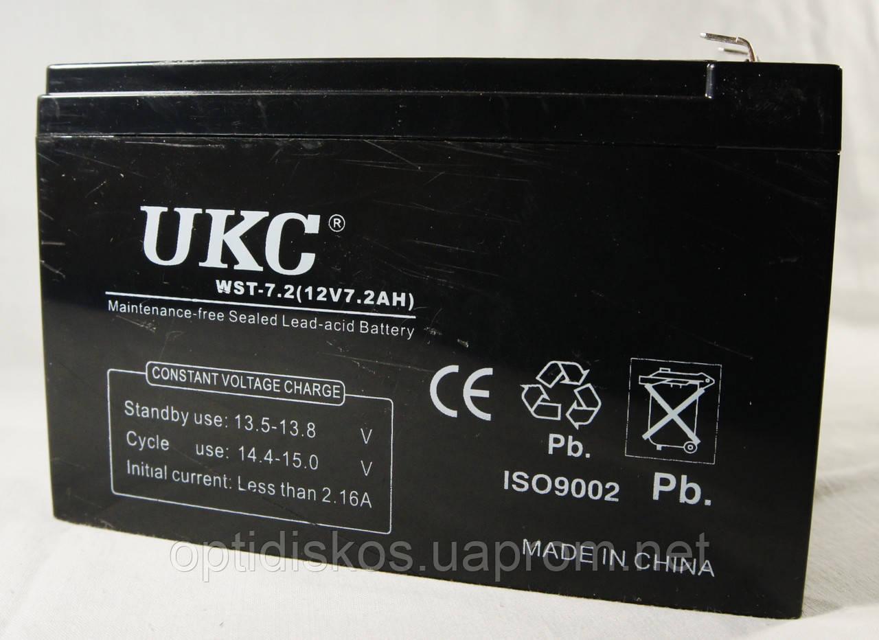 Аккумулятор UKC 12V 7,2Ah