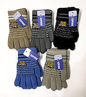 Перчатки вязаные с отворотом Корона. Sport 23. Цвета разные. Размер S