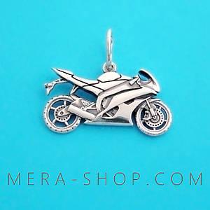 "Кулон ""Мотоцикл Yamaha"" из серебра 925 пробы (32 х 20 мм, 7.8 г)"