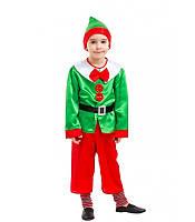 Карнавальный костюм Новогоднего Эльфа на мальчика 4-9 лет (Украина) купить оптом в Одессе на 7 км