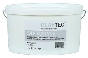 Натуральная  грунтовка Claytec DIE WEISSE белая, 10 л