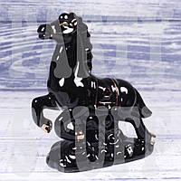 Статуэтка Конь черный, 12 см