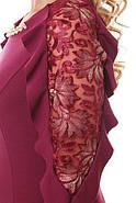 Женское нарядное платье Рамина цвет марсала / размер 54, фото 7