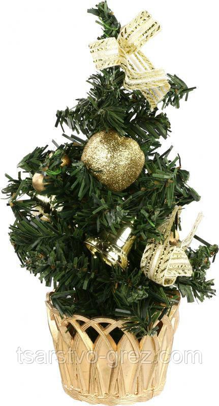 Елка искусственная украшенная, новогодняя, рождественская (20 см.)