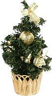 Елка искусственная украшенная, новогодняя, рождественская (20 см.), фото 1