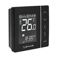 VS10BRF Salus беспроводной, электронный термостат,накладной(4 в 1) черный.