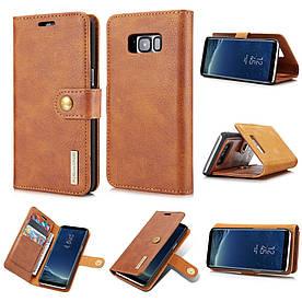 Чохол книжка для Samsung Galaxy S8 Plus G955 бічній з відсіком для візиток, DG.MING, коричневий
