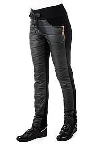 Женские теплые брюки плащевка Irvik H731T черный