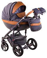 Детская коляска универсальная 2в1 Adamex Monte Deluxe Carbon D20 (Адамекс Монте, Польша)