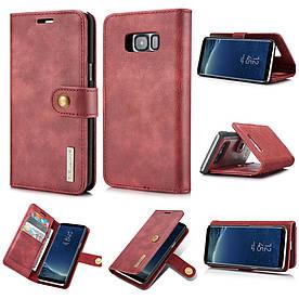 Чехол книжка для Samsung Galaxy S8 Plus G955 боковой с отсеком для визиток, DG.MING, красный