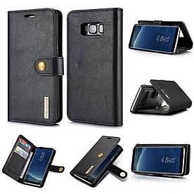Чохол книжка для Samsung Galaxy S8 Plus G955 бічній з відсіком для візиток, DG.MING, чорний