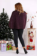 Женская блуза из ангоры 0679 / размер 42-74 / цвет баклажан, фото 4