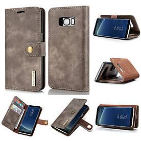 Чохол книжка для Samsung Galaxy S8 Plus G955 бічній з відсіком для візиток, DG.MING, темно-коричневий