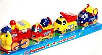 Набор: «Паровозик с вагончиками Чух-Чух та його друзі»