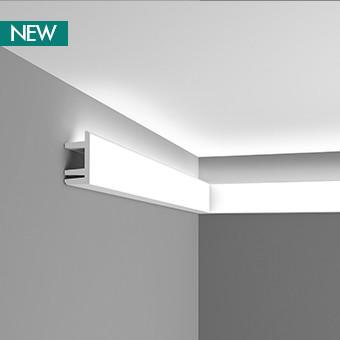Карниз для скрытого освещения C381, 200 x 9.5 x 5 cm