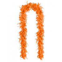Перья декоративные Боа Оранжевый 2 м 30-45 грамм
