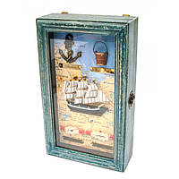 Ключница деревянная настенная Морская