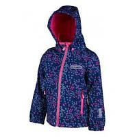 """Демисезонная термокуртка """"Цветы""""  для девочки,  PIDILIDI, BUGGA"""