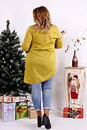 Женская блуза-туника 0675 / размер 42-74 / цвет горчица, фото 4