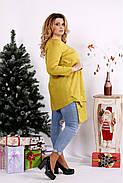 Женская блуза-туника 0675 / размер 42-74 / цвет горчица, фото 2
