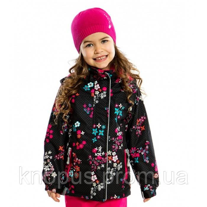Демисезонная куртка для девочки 272 M S17 Black Flower, Nano