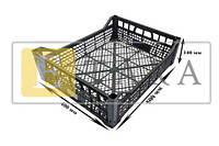 Ящик пластиковый (виноград, слива, черешня, персик, слива) размер 500*400*140мм рабочая высота 95мм