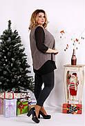 Женская блуза на праздник большого размера 0674 / размер 42-74 / цвет мокко, фото 2