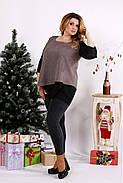 Женская блуза на праздник большого размера 0674 / размер 42-74 / цвет мокко, фото 3