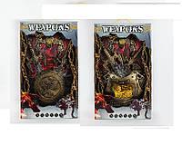Рыцарский набор 333-35/36 (12шт) 2 вида, щит, 2 меча, аксессуары, на планшетке