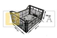 Ящик пластиковый (грибы, слива, персик) размер 400*300*180мм рабочая высота 130мм