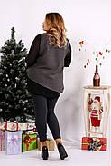 Женская блуза на праздник большого размера 0674 / размер 42-74 / цвет серый, фото 4