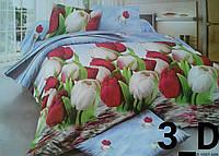 Двуспальный комплект постельного белья, Ранфорс 3D, 180х220 см