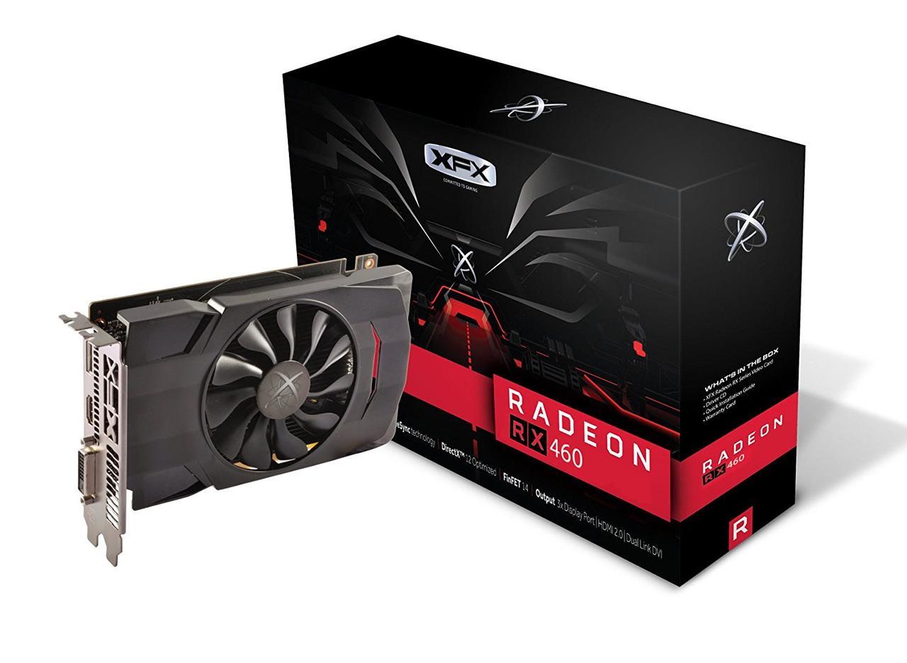 """Видеокарта  XFX Radeon RX 460 4GB Single Fan (RX-460P4SFG5) """"Over-Stock"""" Б/У"""