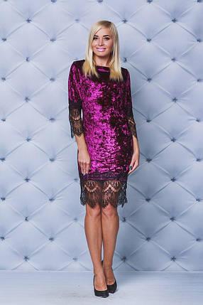 Велюровое платье  бордо, фото 2