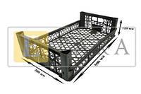 Ящик пластиковый (персик однорядка, малина, клубника) размер 500*300*120 рабочая высота 55мм