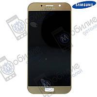 Дисплей Samsung A7 2017 (модуль экран + тачскрин) A720 Gold