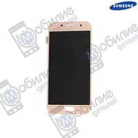 Дисплей Samsung A3 2017 (модуль экран + тачскрин) A320 Pink